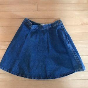 AMERICAN APPAREL jean circle skirt